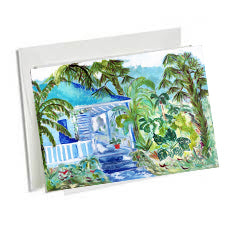 6 Art Note Cards, -SS Plantation Style 3.5 x 5