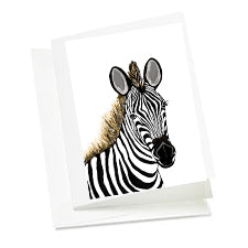 6 Art Note Cards-Zebra Baby 3.5 x 5
