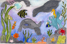6 Art Note Cards -Underwater Too