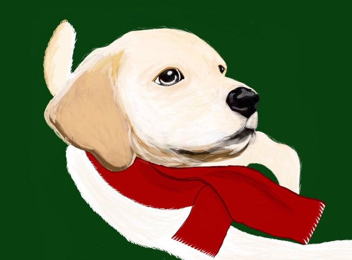 Holiday/Christmas Cards-Labrador Puppy by Lulu LaRock-12