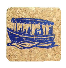 Duffy Electric Boat-Coastal Cork Coasters-Hostess Gift/Party/Home Decor-Marine Blue