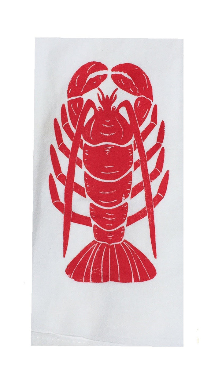Set of 2 Flour Sack Towels-Red Lobster