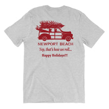 Holiday Tee Woody Wagon front/back
