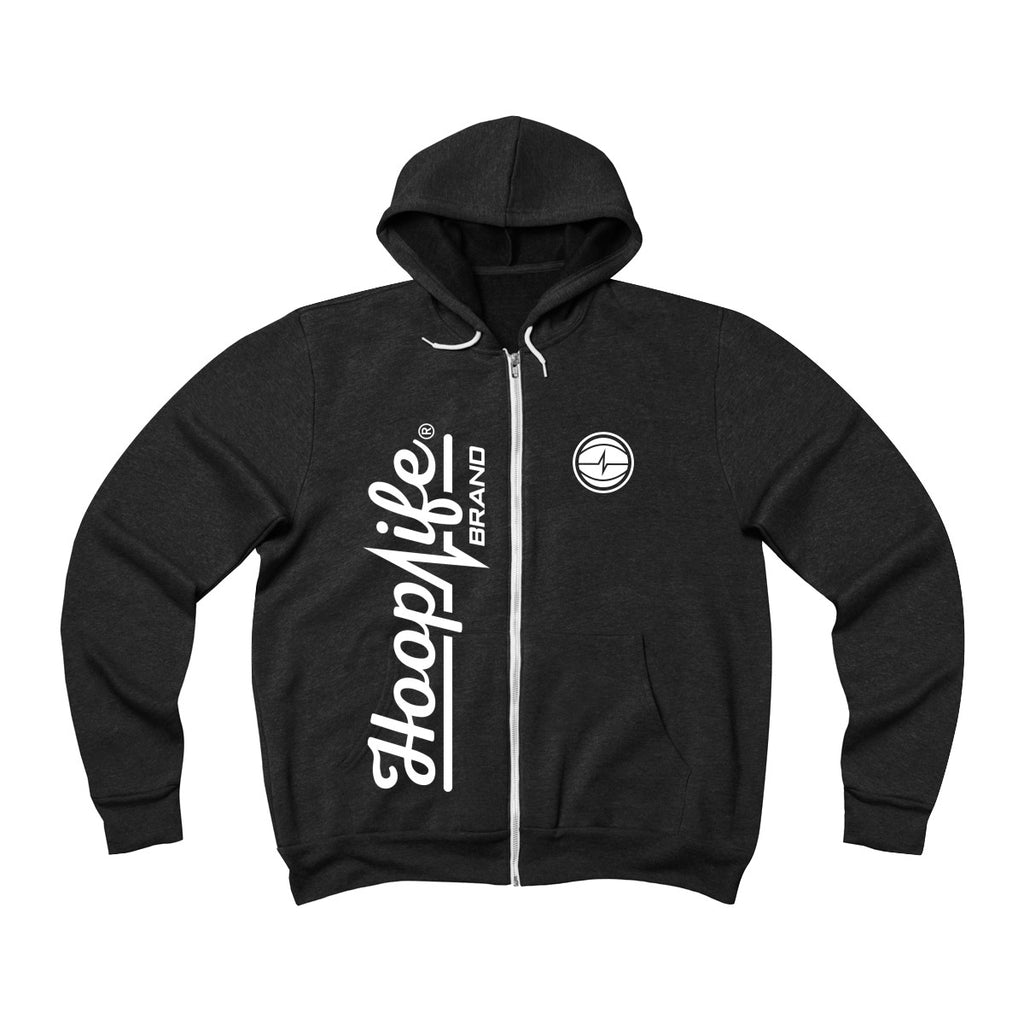 Hooplife® Vertical Fleece Zip Hoodie