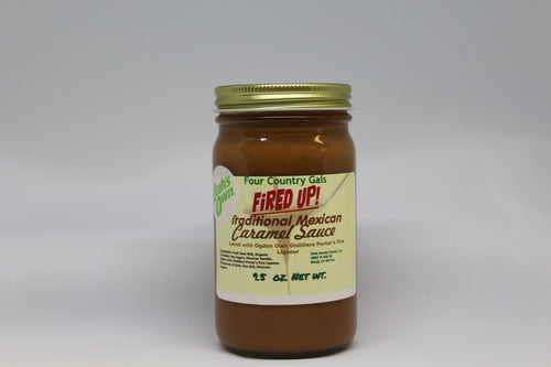 Fired Up! Mexican Goat Milk Caramel Sauce, 9.5 oz jar - FourCountryGals.com