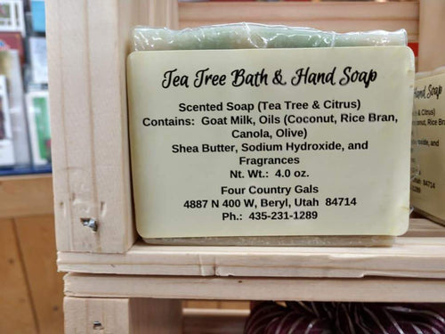 Tea Tree Bath and Hand Soap - FourCountryGals.com