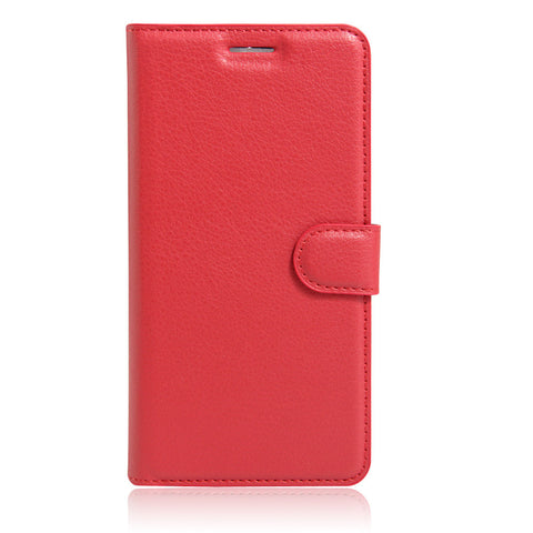 Lychee print mobile phone leather case