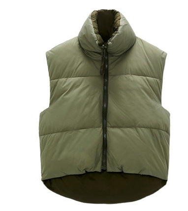 The New Double-Sided Padded Vest And Waistcoat Women's
