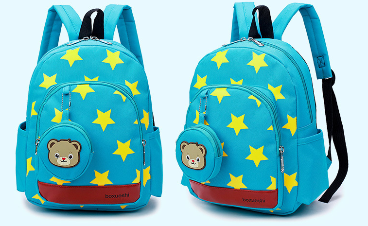 A small bear nursery school bag double shoulder bag