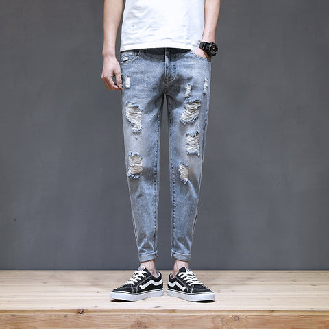 Casual ripped men's pants