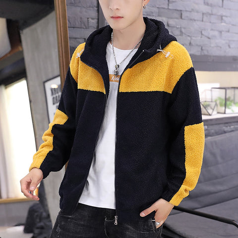 Zipper shake grain coat cardigan