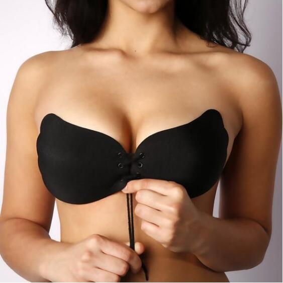 Invisible Push Up Strapless Bra Self Adhesive Silicone