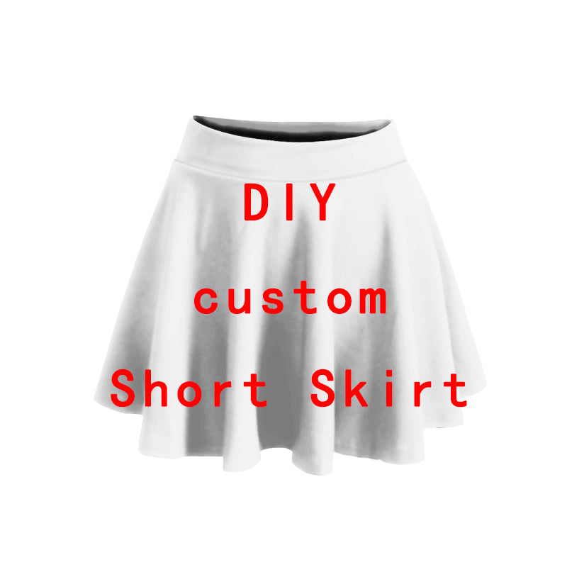 3D Print DIY Custom women Summer women's clothing Short Skirt