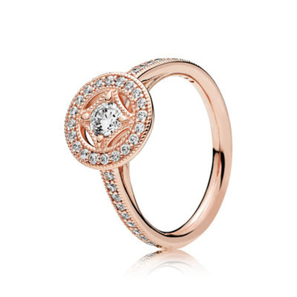 Variety of rose gold and zircon rings