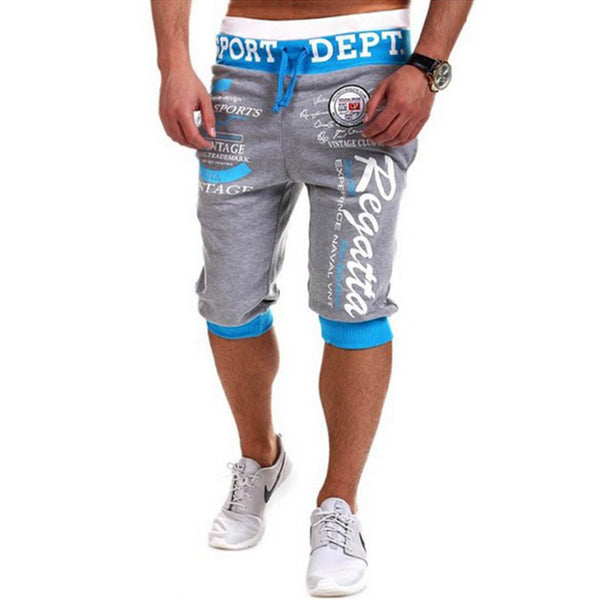 Men's printed cropped trousers