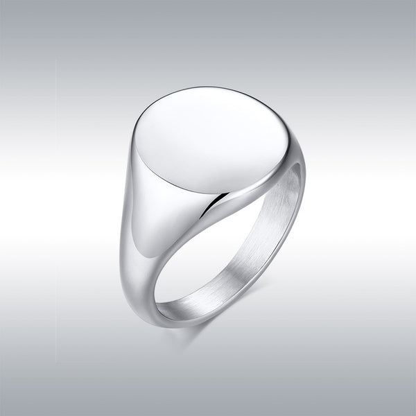 Polished titanium steel exquisite polished ring