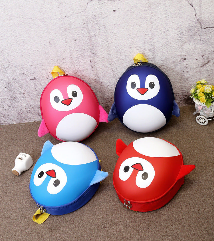 Manufacturers direct selling children Penguin little knapsack cartoon kindergarten schoolbag Korean Edition egg shell double shoulder bag wholesale