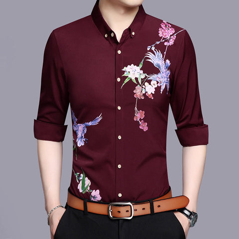 Business print shirt