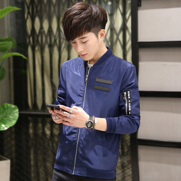 New style men's coat, Korean style, spring and autumn, thin casual jacket, men's coat, young students, men's clothing