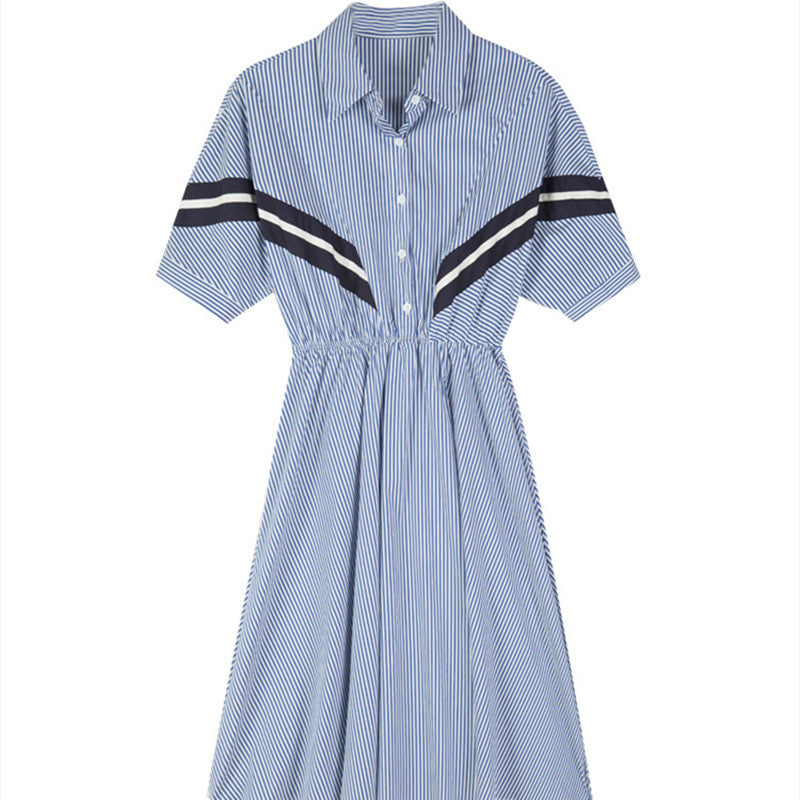 French retro mid-length slim waist dress