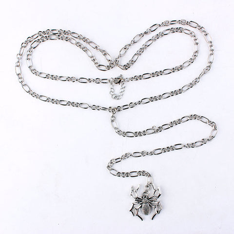 Crystal faceted waist chain