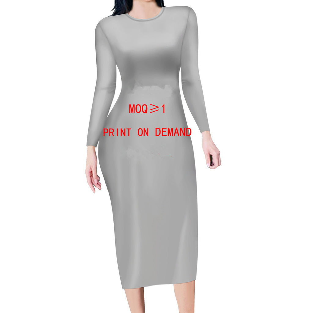 Custom Long sleeve dress