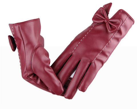 Leather gloves female