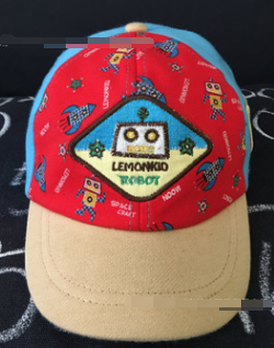 Cartoon Robot Boy Baseball Cap