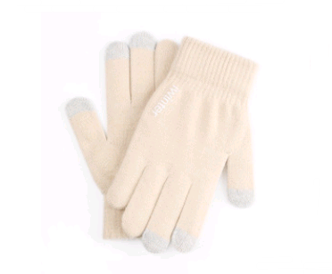 Touch screen gloves men's winter non-slip driving female students knitting wool couple plus velvet warm outdoor riding gloves