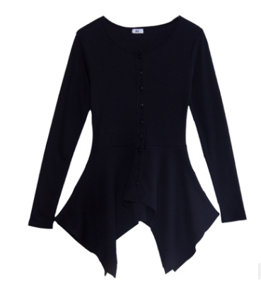 Irregular long sleeve bottoming shirt