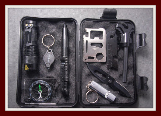 10 in 1 Professional Survival Field Kit - ZombieSurvivalStuff - 1