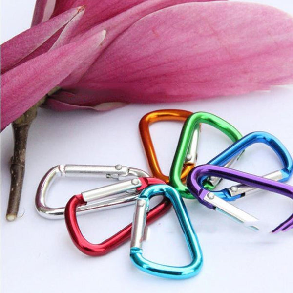 Outdoor Sports Multi Colors Aluminium Alloy Safety Buckle With Lock