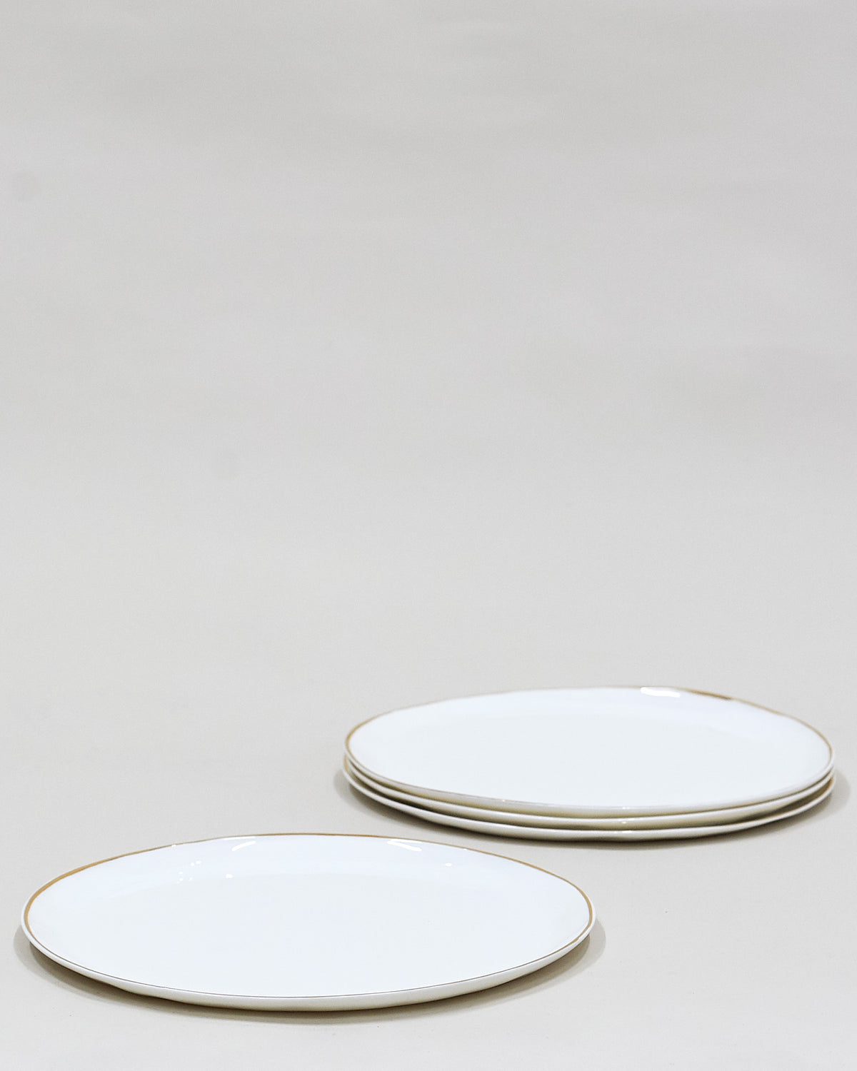 Set of 4 Gold Dinner Plates