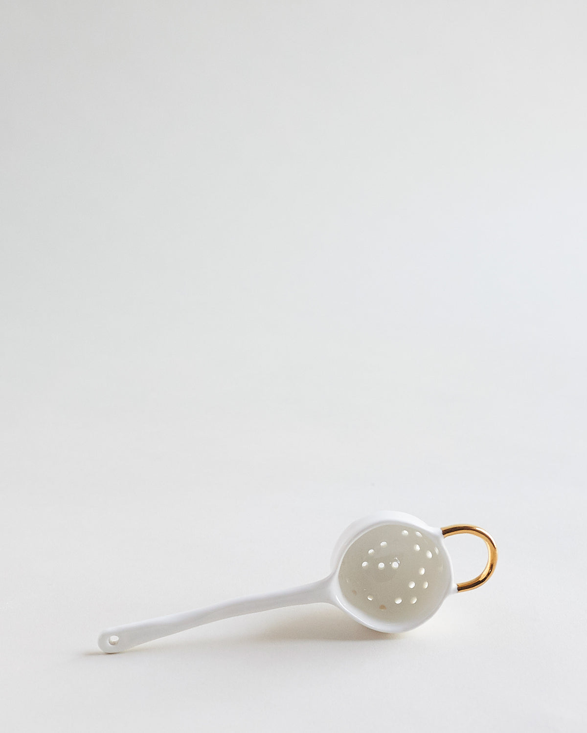 Gold Tea Strainer