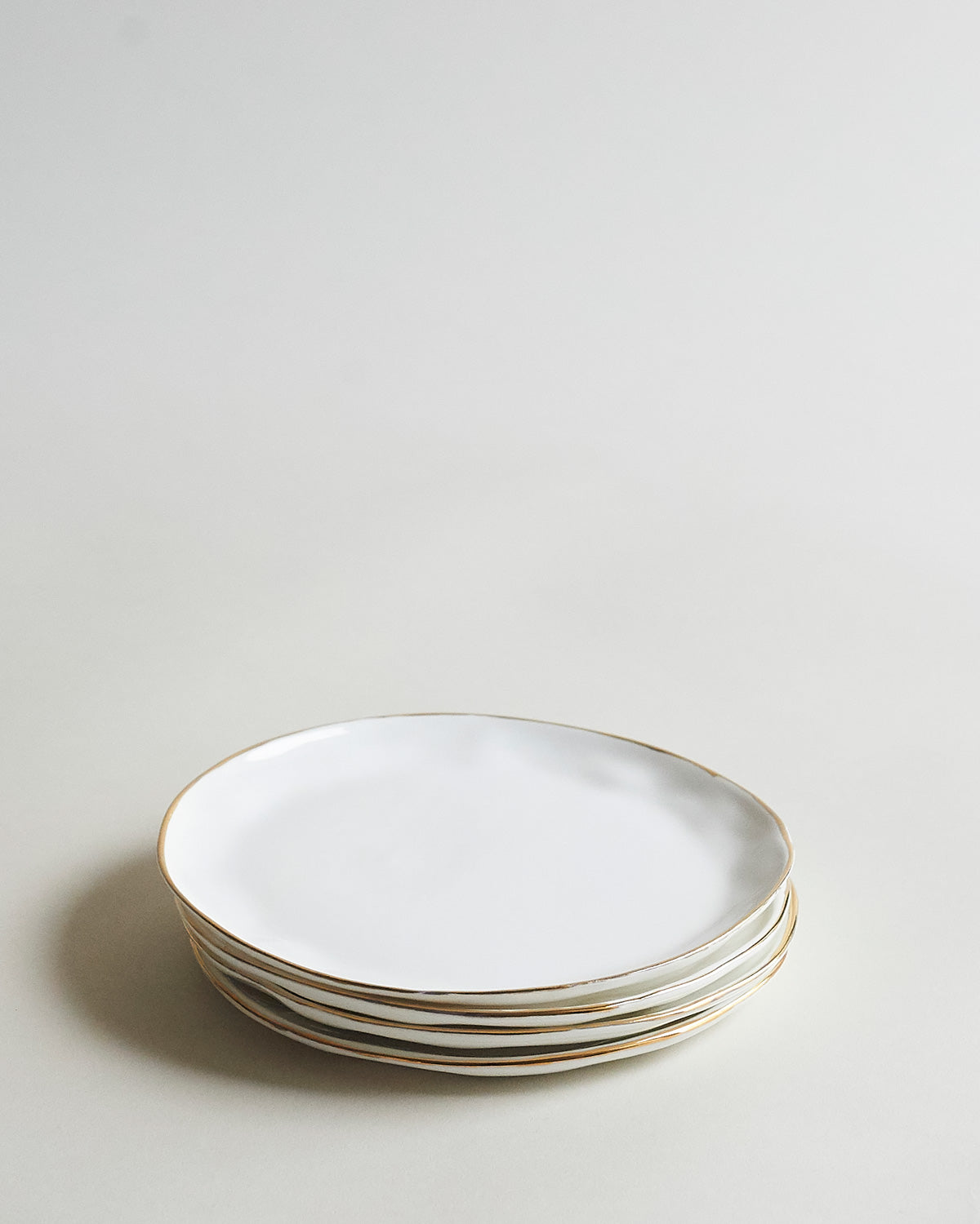 Set of 4 Gold Cake Plates