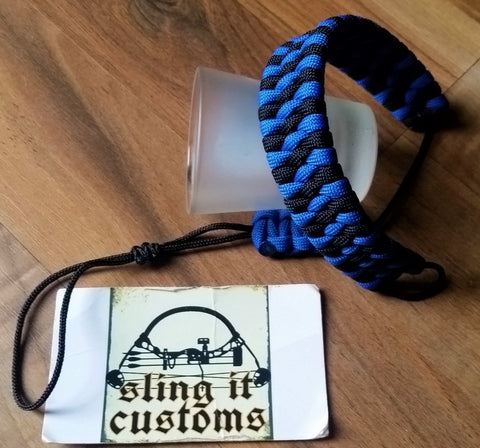 Wrist Lanyard for Thumb Release - Ladder Weave