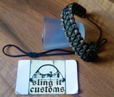Wrist Lanyard for Thumb Release - Cobra with Microstitched Xs Weave