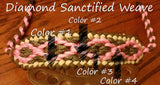 Bow Wrist Sling - Diamond Santified Weave with Custom Charm - SlingIt Customs - 4
