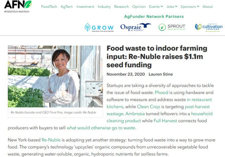 Re-Nuble Closes Seed Round Food Waste Agtech AgFunder