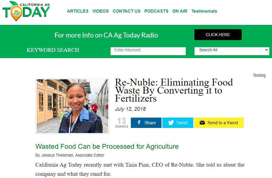 Re-Nuble California Ag Today