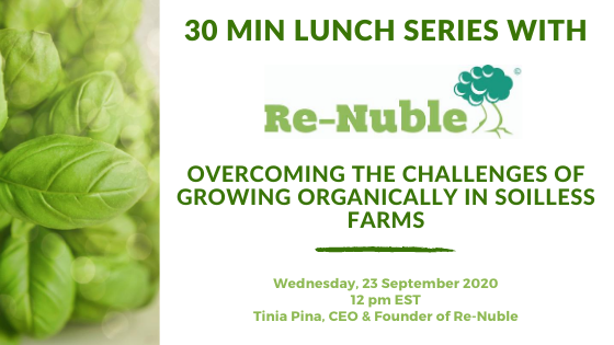 Webinar Re-Nuble organic hydroponic nutrients, challenges of organics