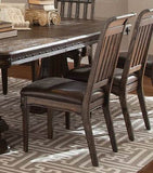 SPANISH STYLE RUSTIC TRESTLE DINING TABLE & CHAIRS DINING ROOM FURNITURE SET
