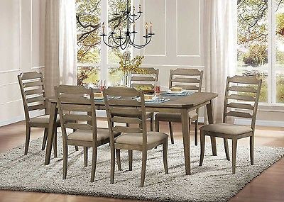 DRIFTWOOD FINISH DINING TABLE DINING ROOM FURNITURE SET