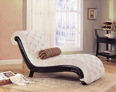 STYLISH CHENILLE BEIGE CHAISE RECLINING CHAIR FURNITURE