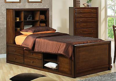 TERRIFIC MODERN FULL CAPTAIN'S STORAGE CHEST BED YOUTH BEDROOM FURNITURE