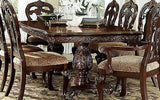 STATELY TRADITIONAL RECTANGULAR DINING TABLE & CHAIRS DINING ROOM FURNITURE SET
