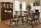FABULOUS FORMAL COFFEE FINISH DINING TABLE & CHAIRS DINING ROOM FURNITURE SET