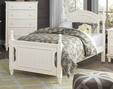 LOVELY WHITE 4 PC YOUTH TWIN BED DRESSER MIRROR BEDROOM FURNITURE SET