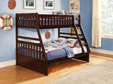 CHERRY FINISH TWIN / FULL YOUTH BUNK BED & TRUNDLE OR STORAGE BEDROOM FURNITURE