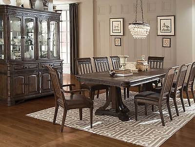 Spanish Style Rustic Trestle Dining Table Chairs Dining Room Furnitu Thom S Furniture Treasures